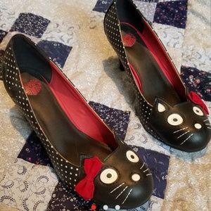 Polka Dot Cat T.U.K. Heels